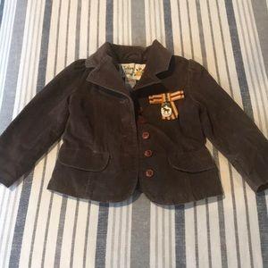 Gymboree size 3 button down brown blazer